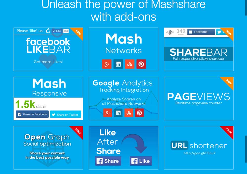 Mashshare ist perfekt auf die eigenen Bedürfnisse erweiterbar.