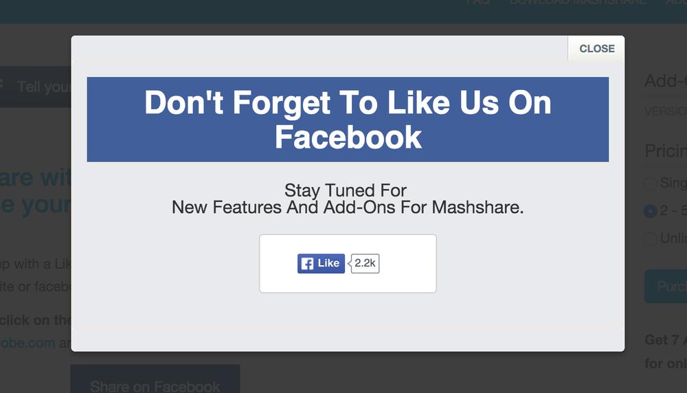 Like after Share dient dazu, der Facebookseite mehr Likes zu verschaffen.