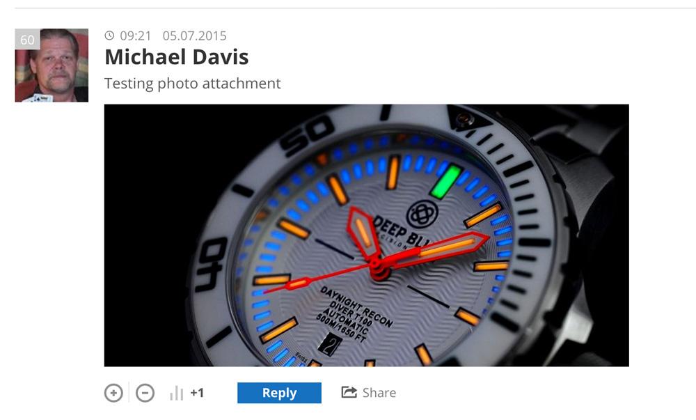 de:comments - Ein Kommentar mit eingebetteten Foto.