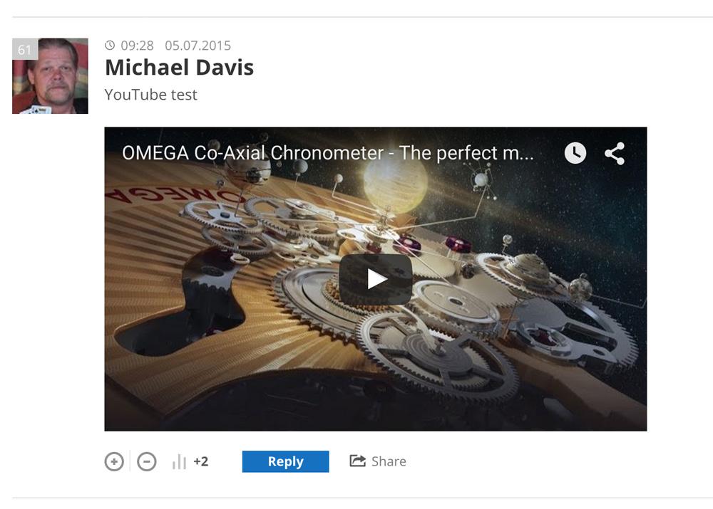 de:comments - Hier wird ein Kommentar mit eingebetteten Video gezeigt.