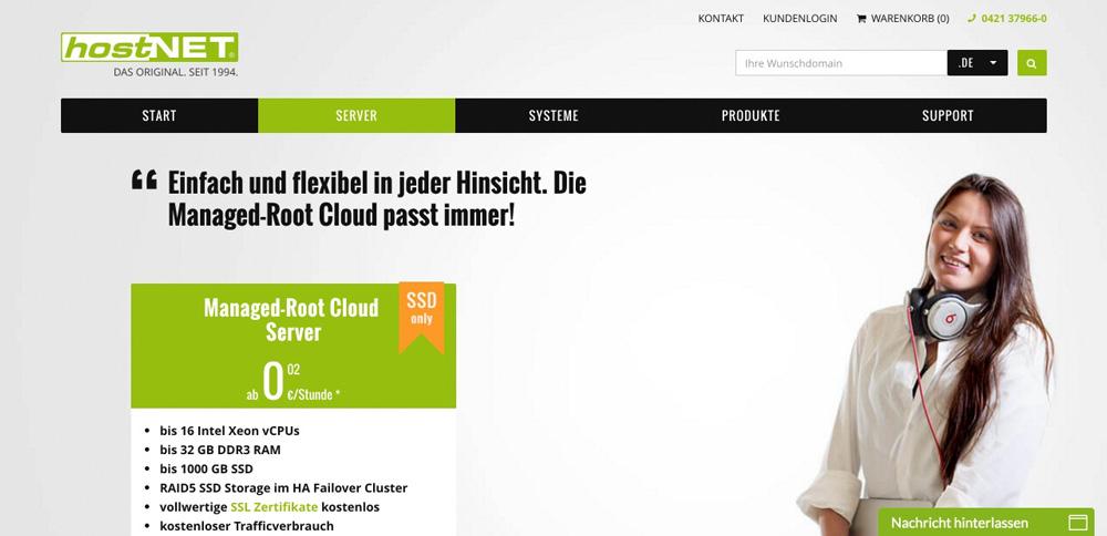 WordPress Hosting Vergleich: hostNET