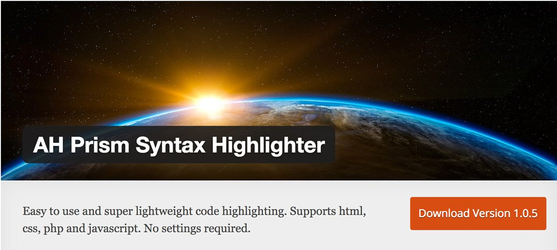 Das »AH Prism Syntax Highlighter« Plugin
