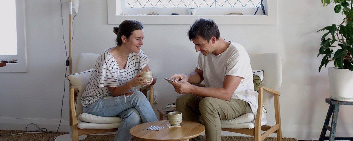 Ellen Bauer und Manuel Esposito von Elmastudio
