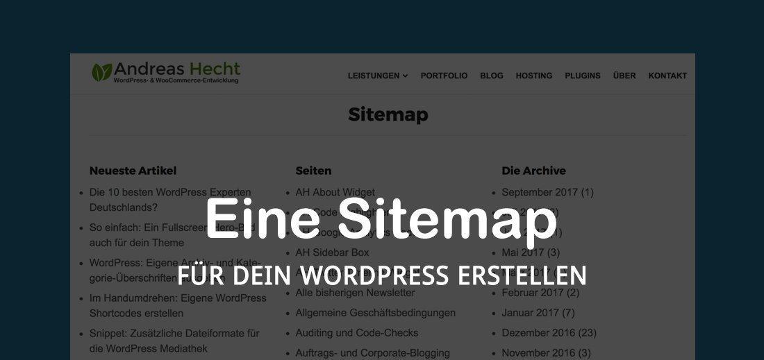Wie Du eine WordPress Sitemap für deine Besucher erstellen kannst