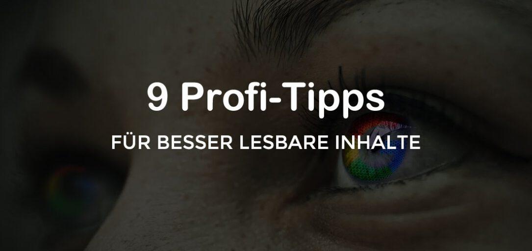 9 Profi-Tipps für besser lesbare Inhalte - Scannen leicht gemacht