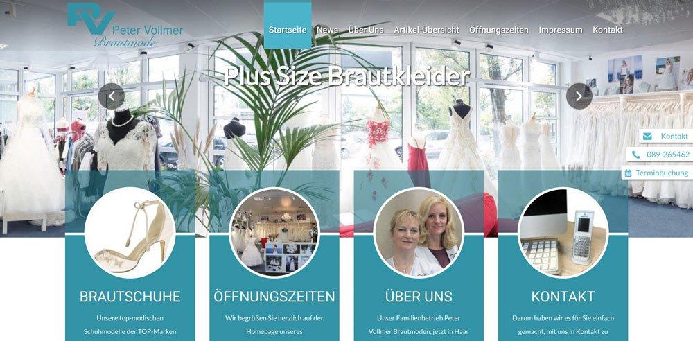 Die Website von Peter Vollmer Brautmoden