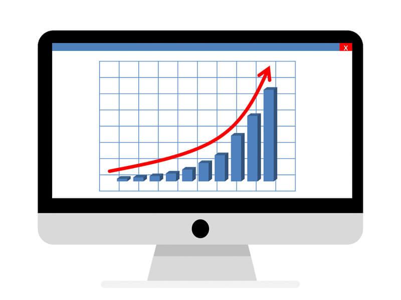 SEO-Beratung für kleine Unternehmen. Chartdarstellung