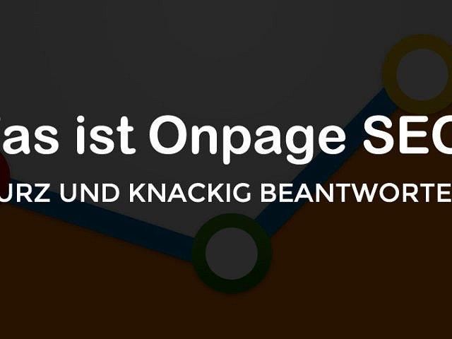 Was ist eine Onpage SEO Optimierung?