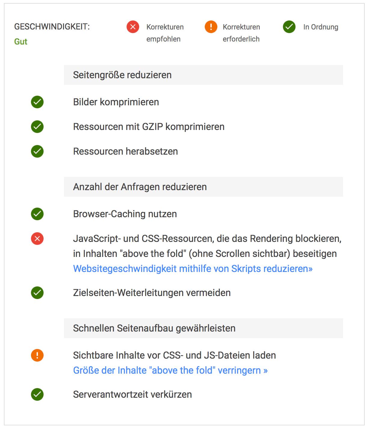 Mobil PageSpeed bestimmen: Googles Empfehlungen, wie ich den Mobile PageSpeed um drei Sekunden reduzieren könnte.