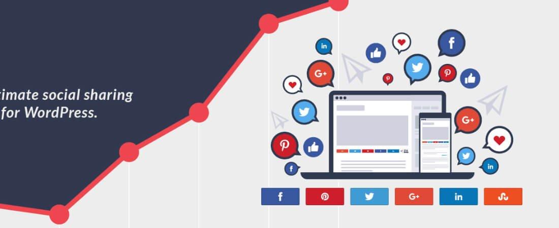 Statische Share Buttons wie Social Warfare nachgebaut und voll Responsive