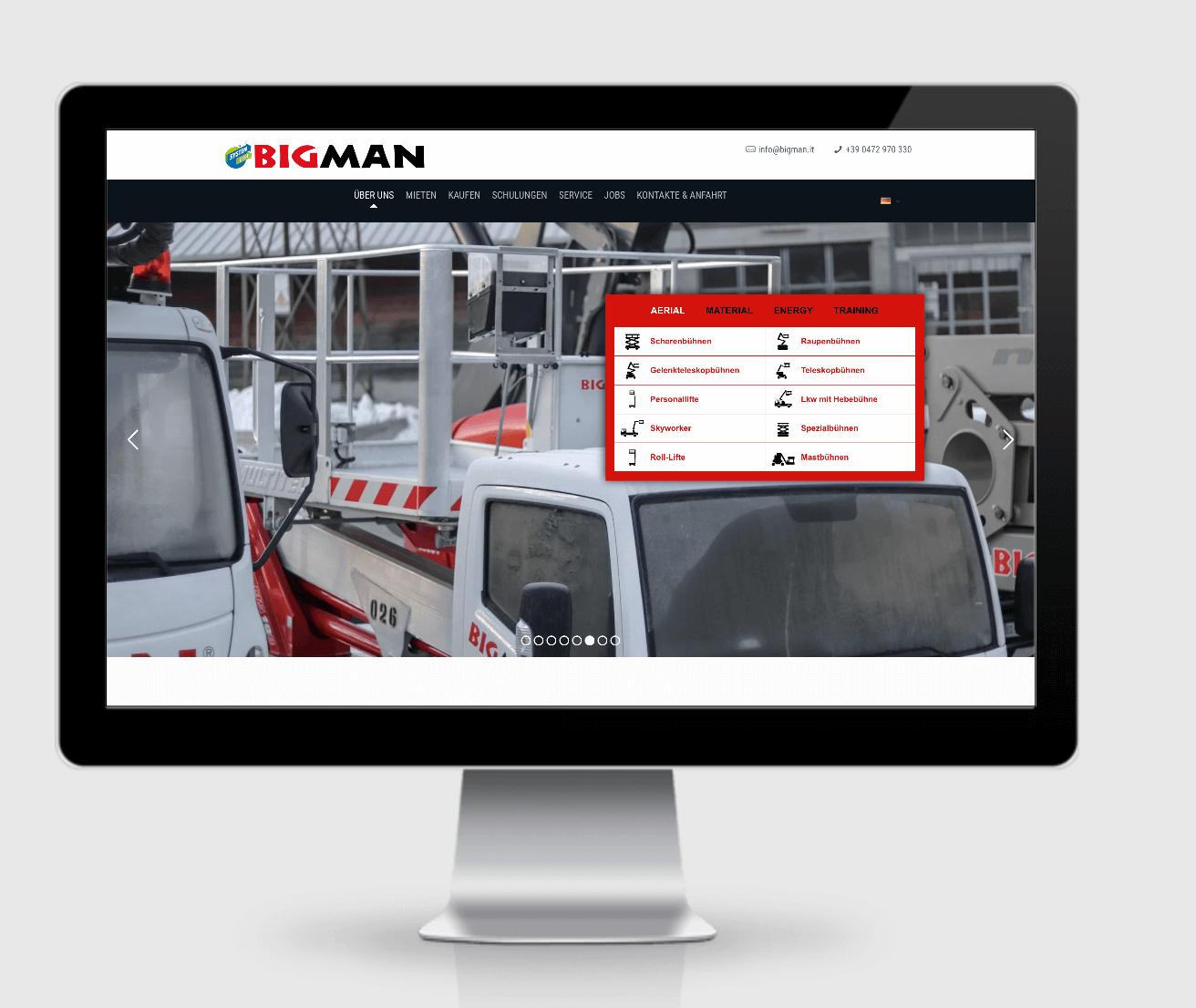 Bigman GmbH aus Südtirol. Eine SEO Referenz der SEO Agentur Hamburg / https://seoagentur-hamburg.com