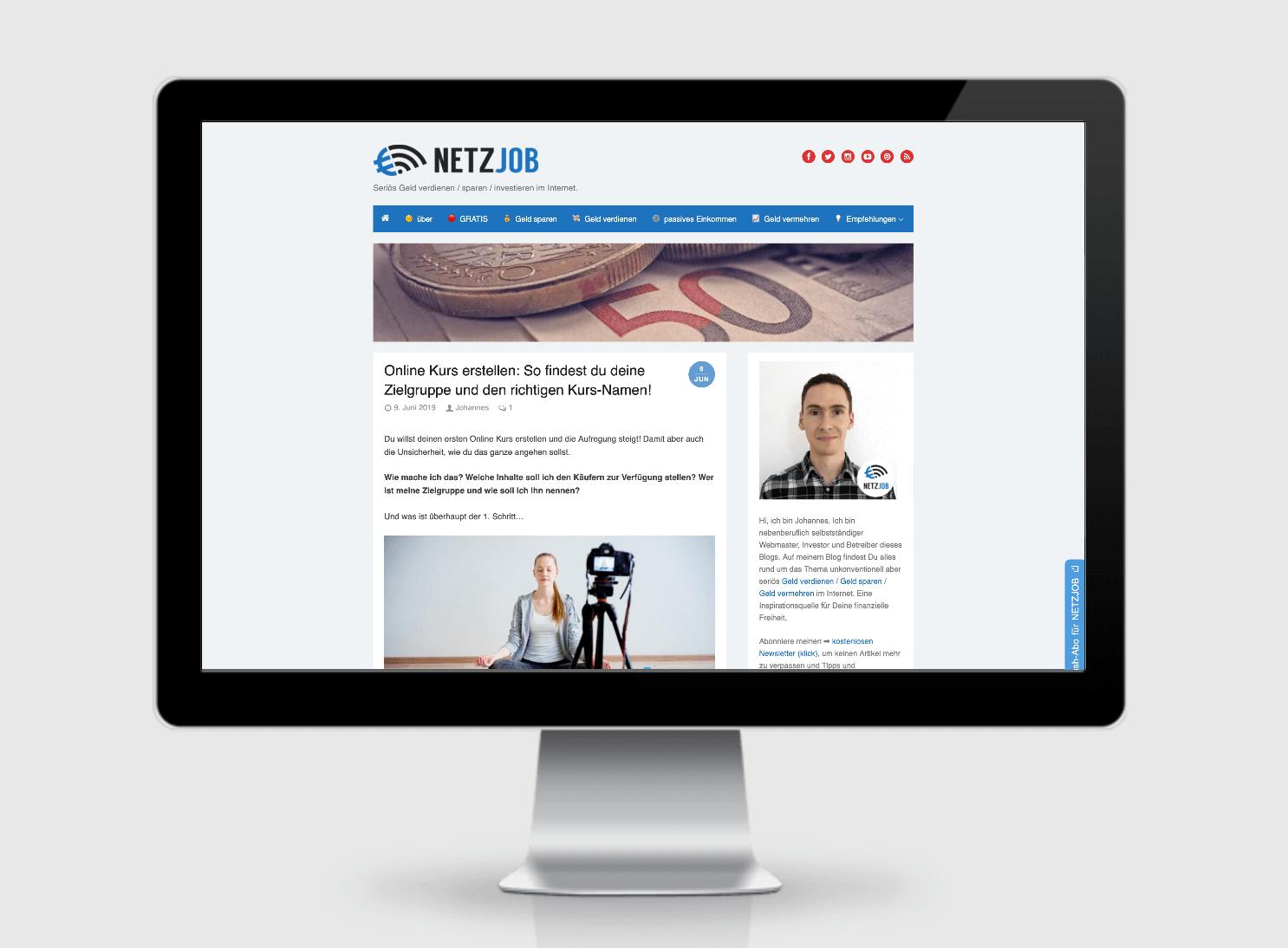 Netzjob.eu. Eine Referenz der SEO Agentur Hamburg / https://seoagentur-hamburg.com