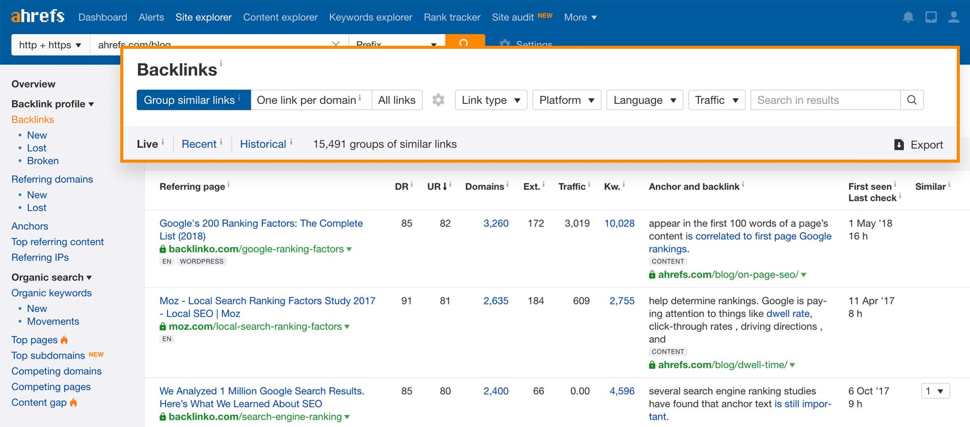 Backlinks sind für die Suchmaschinenoptimierung sehr bedeutend. Daher sollte man das eigene Backlinprofil checken.