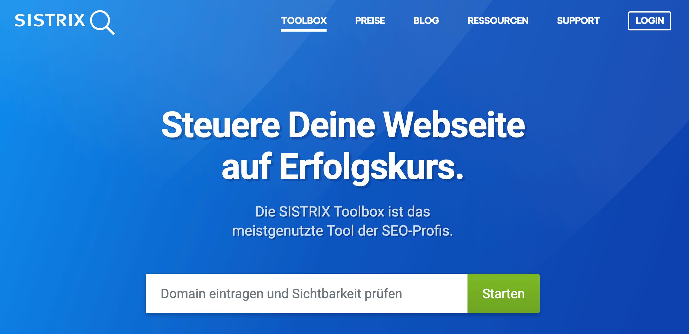 Sistrix ist das SEO-Tool der Profis.