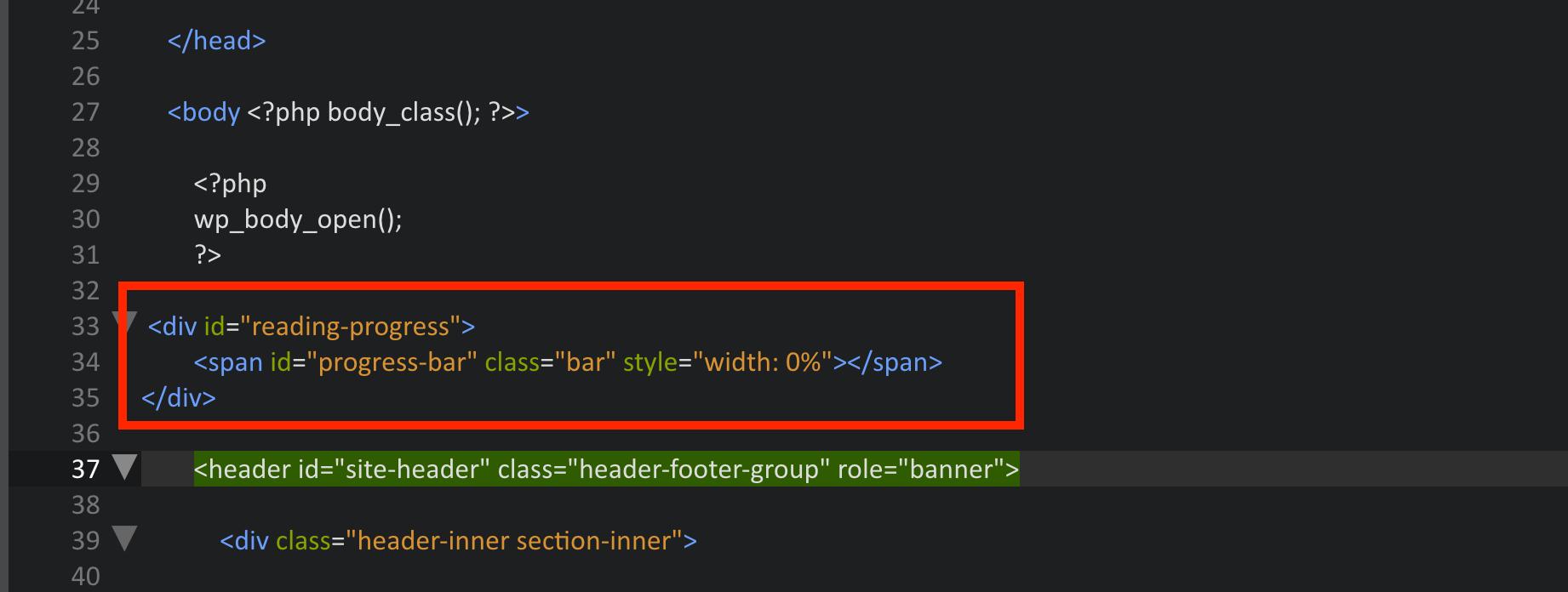 An dieser Stelle fügst Du das HTML ein