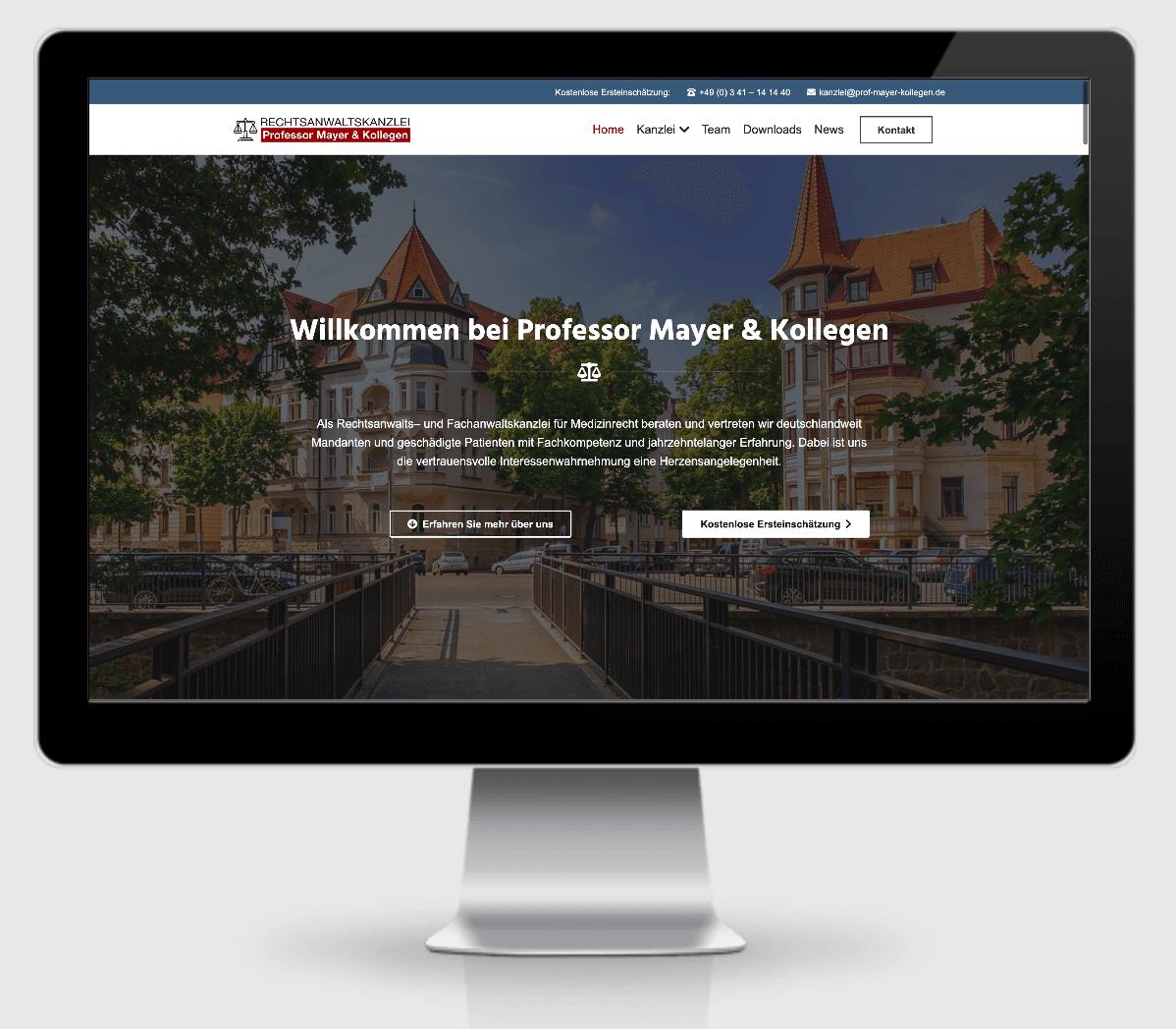 Rechtsanwaltskanzlei Professor Mayer und Kollegen - Die Startseite