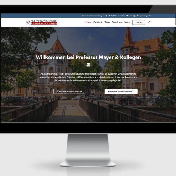Rechtsanwaltskanzlei Professor Mayer und Kollegen - Referenz der SEO Agentur Hamburg