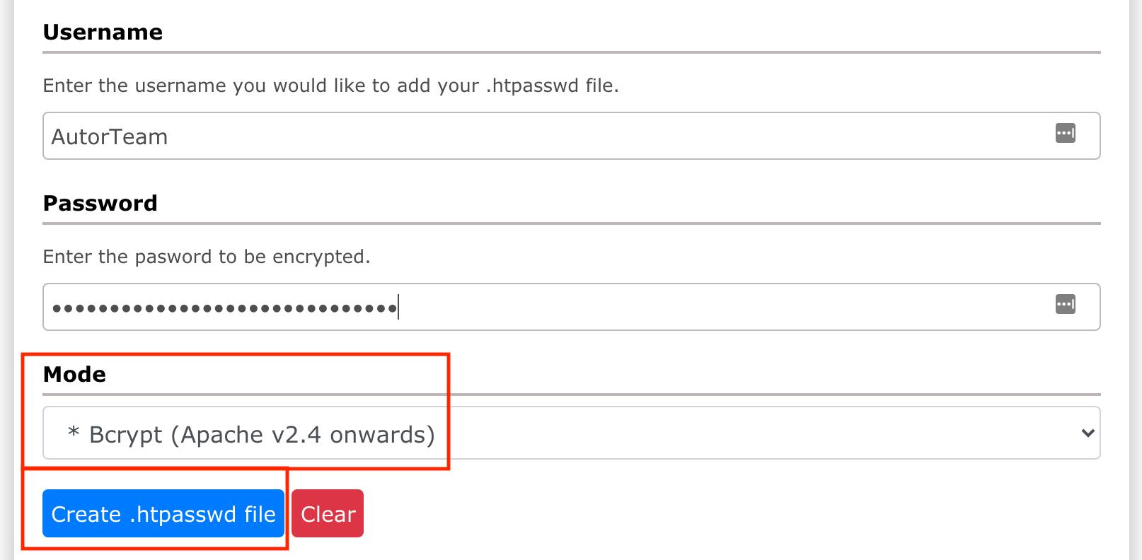 Der .htpasswd Generator. WordPress absichern mit HTTP Authentifikation.