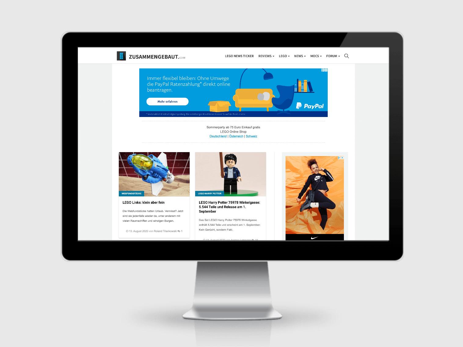 Website Zusammengebaut.com