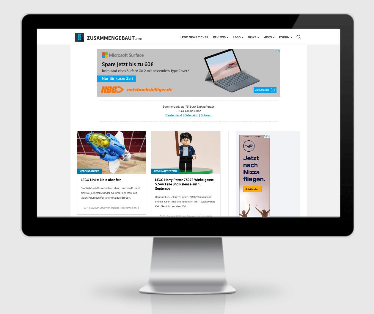 zusammengebaut.com ist eine Referenz der SEO Agentur Hamburg