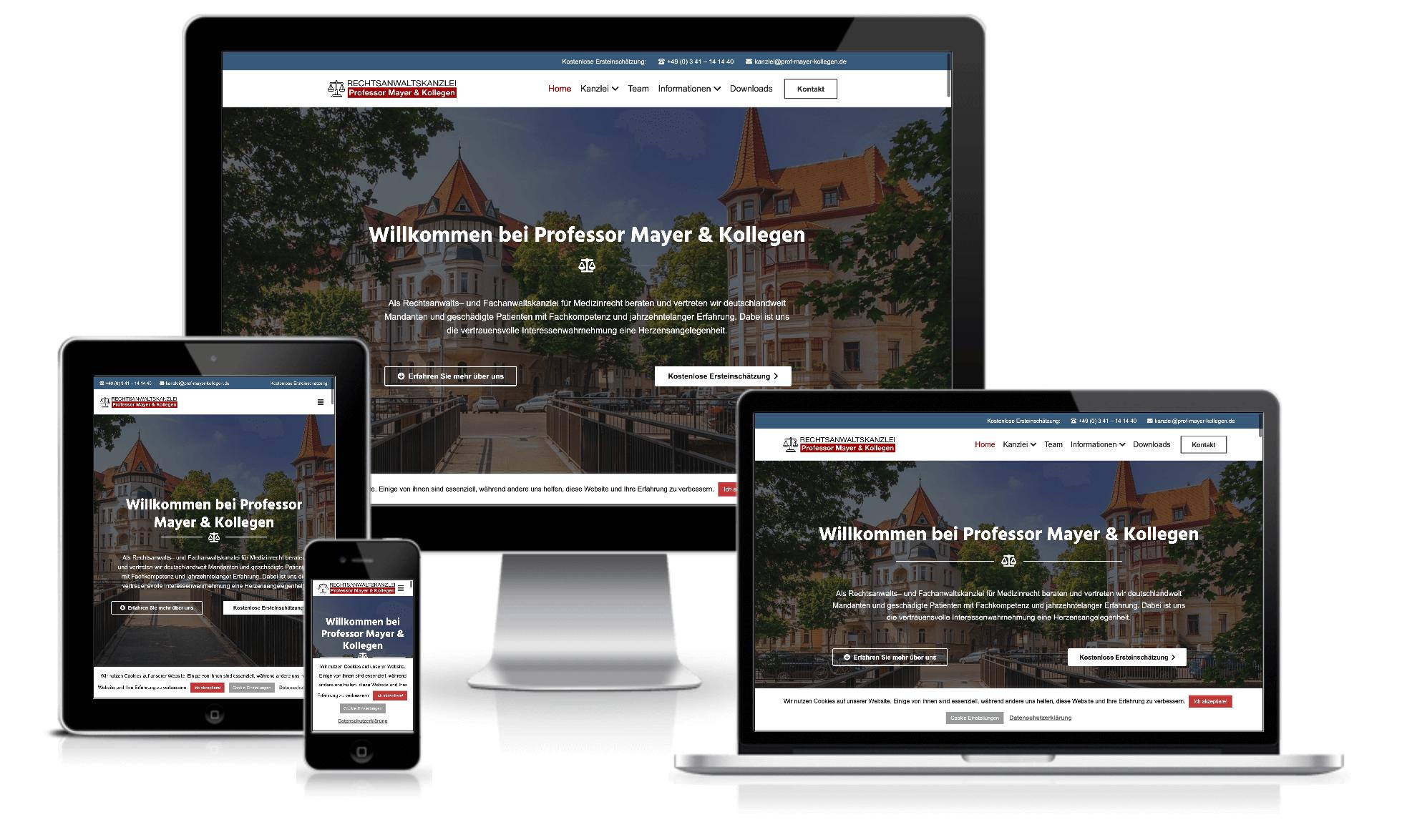 Website Relaunch Betreuung: Ein optimales responsives Webdesign muss heute einfach sein. Und darauf achten wir.