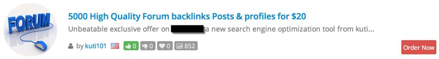 ©LinkResearchTools. 5.000 schädliche Links für nur 20 USD. Wenig Geld, um eine Website zu ruinieren.
